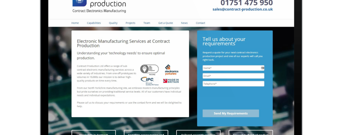 Contract Production Ltd - Before